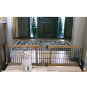 Carlson Pet Products 2-in-1 Extra Wide Free Standing Pet Gate, Premium Wood
