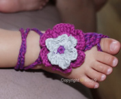 Baby Handmade Crochet Barefoot Sandals Shoes