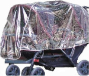 Crystal Clear Twin Stroller Rain and Wind Shield with Front and Back Tandems