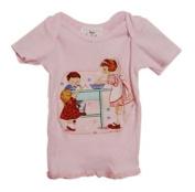 Vintage-style Kids Cooking Baby Girl Lap T-shirt