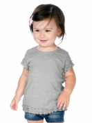 Kavio! Infants Lettuce Edge Crew Neck Short Sleeve T-shirt