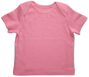Funkoos Pink Pinstripe Baby Girl Short Sleeve T-Shirts Infant, Newborn, Baby