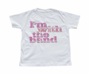 """I'm With the Band"" Girl's White Toddler T-Shirt"
