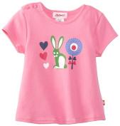 Zutano Baby-girls Infant Bunny Love Screen Swing Tee