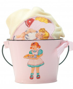 Yellow or Pink Retro Paper Dolls Tee & Bucket