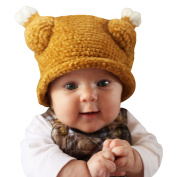 Melondipity's Little Turkey Thanksgiving Baby Hat - Crochet Beanie in Brown with Drumsticks