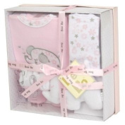 BabyPrem Baby Shower Gift Box Set 0 - 3 Months - Bodysuit, Bib, Toy, Socks in Gift Box - Pink