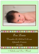 Gumballs on Mint Birth Announcements - Set of 20
