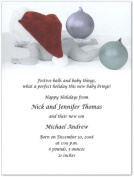 Holiday Baby Birth Announcements - Set of 20