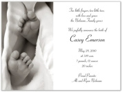 Baby Toes Birth Announcements - Set of 20
