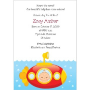 Submarine Baby Birth Announcements - Set of 20