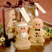Adorable Gingerbread Bride & Groom Candle Favours