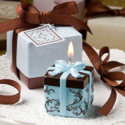 Brown And Blue Gift Box Collection Candle Favour