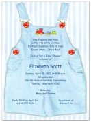 Blue Overalls Baby Shower Invitations - Set of 20