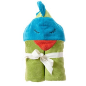 Breganwood Organics Kids Hooded Towel, Funny Bird Rainforest Collection