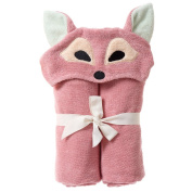 Breganwood Organics Kids Hooded Towel, Playful Fox - Woodland Collection