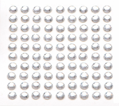 100 x Crystal Self Adhesive Diamante Stick On Rhinestone Gems 5mm