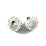 Packet Of 150+ x Silver Plated Brass Stardust Twinkle Round Beads 4mm HA01918