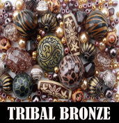 Approx 275 x Tribal Bronze Copper Bead Jewellery Making Starter Beads Mix Set
