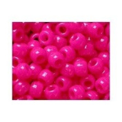 Opaque Pony Bead Neon Pink Qty 1000