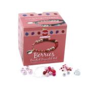 Berries Beaded Bracelet Jewellery Making Pippin Kit in Raspberry