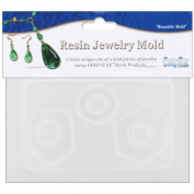Resin Jewellery Reusable Plastic Mould 8.9cm x 11cm -3 Small Abstract Shapes