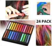 CKB Ltd Pack of 24 Quality Artist Pastels Ideal For Hair Chalking & Art Projects