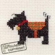 Mouseloft Mini Cross Stitch Kit - Scottie Dog, Stitchlets Collection
