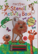Marzipan - Stencil Actvity Book With Crayons & Stickers