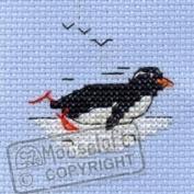 Mouseloft Mini Cross Stitch Kit - Speedy Penguin, Stitchlets Collection
