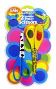 """Animal Antics"" Pack of 2 Children's Craft Scissors with Animal Patterns"