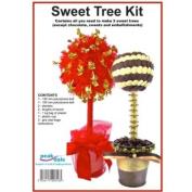 Make your own - Sweet Tree Kit, Polystyrene ball, planter, dowel, plaster xmas