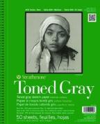 Strathmore Toned Sketch Paper Pad 28cm x 36cm -36kg Grey 24 Sheets
