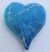 Artfelt 3D needle felt blue heart craft kit DIY