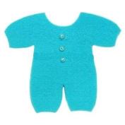 Syntego Embellishments - Baby Sleepsuit, Blue, 6cm approx