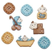 Dress It Up Buttons - Baby Fun Boy, pk of 8, 20 to 30mm