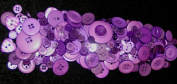 APPROX 400 ART AND CRAFT PURPLE BUTTONS