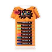 NEON T-Shirt Graffiti Pens - 8 Permanent Fabric Markers