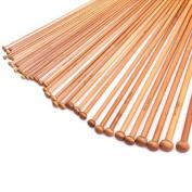 18 Sizes Carbonised Bamboo Single Pointed Needles Knitting Needles