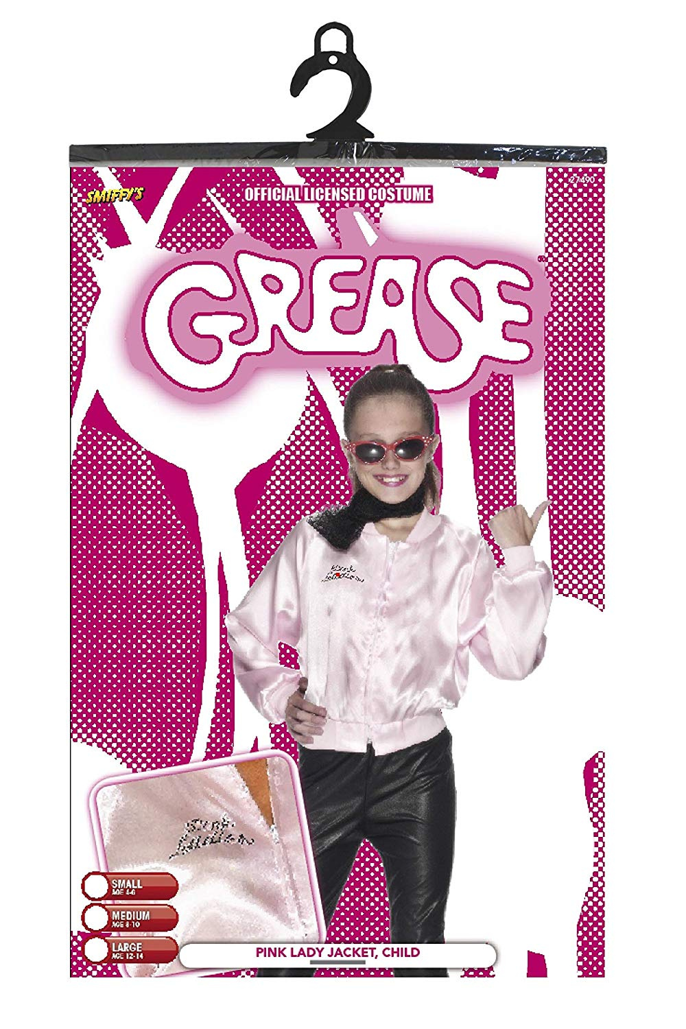 5464d0934a1 Smiffys Children s Grease Pink Ladies Jacket