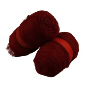 Carded Wool, warm red, 2x100 g