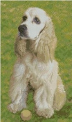 American Cocker Spaniel Counted Cross Stitch Kit 20cm x 34cm