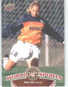 2010 Upper Deck World of Sports Trading Card # 114 Hope Solo / Women's Soccer Cards / Huskies
