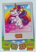 Topps No.141 Gigi Rainbow Foil Card Moshi Monsters Mash Up Trading Card