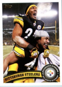 2011 Topps Football Card # 216 Pittsburgh Steelers Team Card - Pittsburgh Steelers (Ike Taylor / Troy Polamalu) NFL Trading Card in a Protective Case!