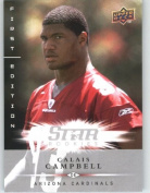 Calais Campbell RC (RC - Rookie Card) Arizona Cardinals / 2008 Upper Deck First Edition Football Card # 155 / NFL Football Trading Card in