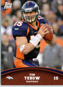2011 Topps Rising Rookies Football Card # 28 Tim Tebow - Denver Broncos - NFL Trading Card