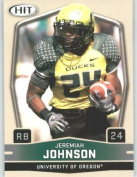 2009 Sage HIT Football Card # 24 Jeremiah Johnson RC - Rookie Card ( Oregon - RB ) First Card of the 2009 NFL Rookies - Shipped in a Protectective Display Case