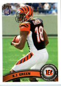 2011 Topps Football Card # 151 A.J. Green RC - Cincinnati Bengals (RC - Rookie Card) NFL Trading Card in a Protective Case!