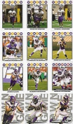 2008 Topps Minnesota Vikings Complete Team Set of 18 cards including Adrian Peterson, Jared Allen and more